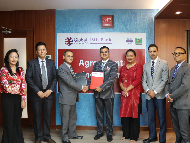 ग्लोबल आईएमई बैंक र आईएमई लाइफ इन्स्योरेन्स कम्पनीबीच सम्झौता