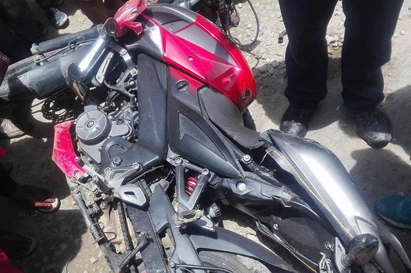 मोटरसाइकलको ठक्करबाट पैदलयात्रीको मृत्यु