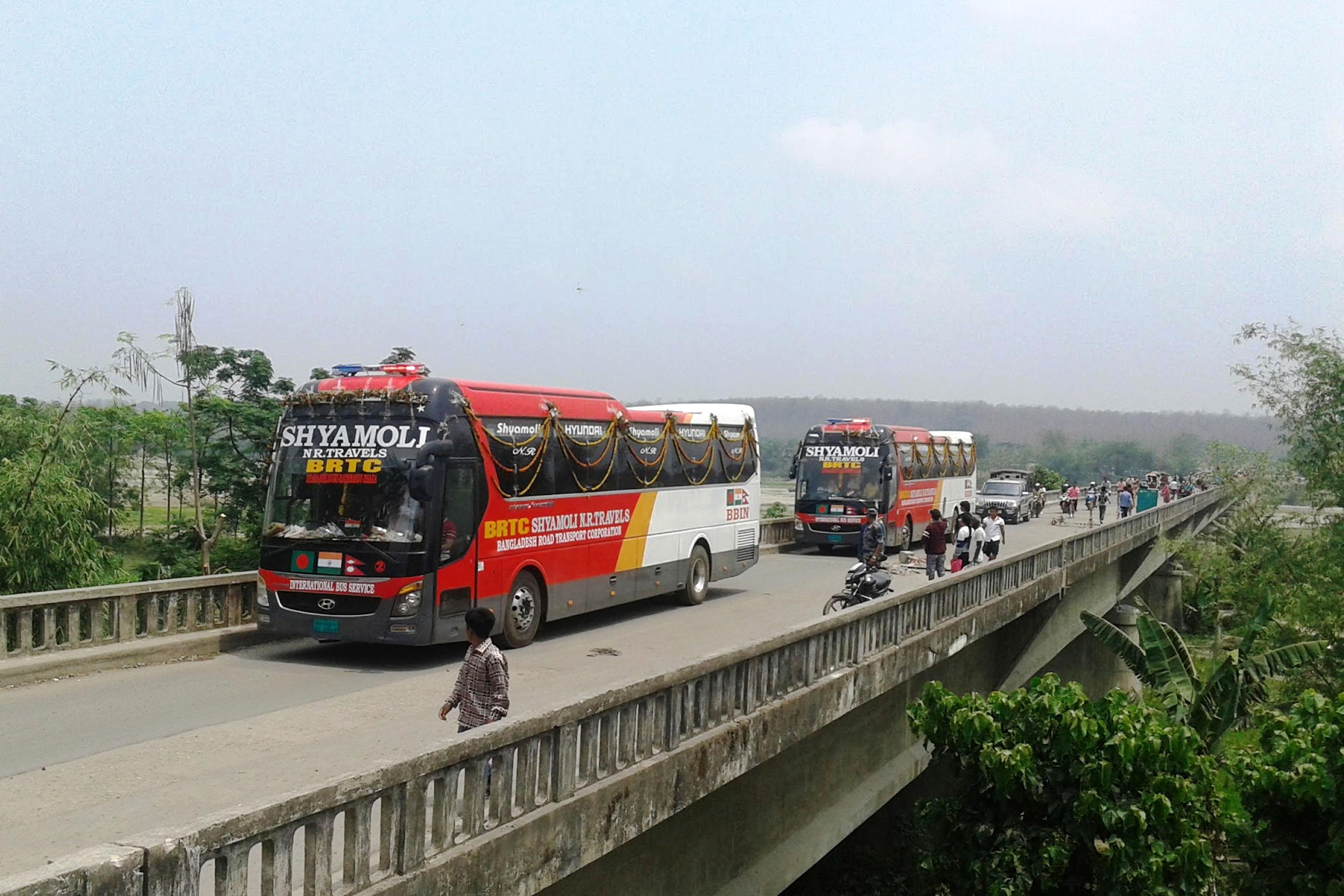 बंगलादेश–भारत–नेपाल सीधा बससेवा सुरु