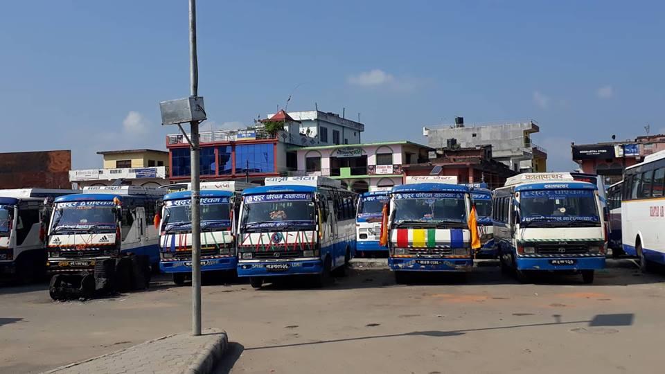 चालकको आन्दोलनले यातायात सेवा प्रभावित, यात्रु अलपत्र