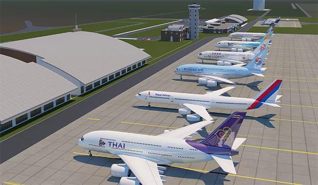 राष्ट्रिय गौरवका विमानस्थल निर्माण सुस्त