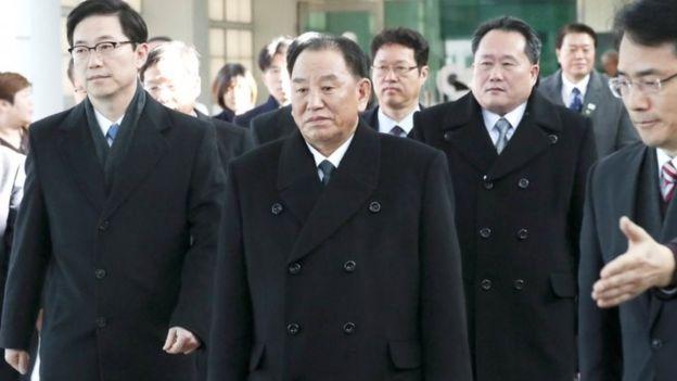 उत्तर कोरियाली जनरल किम योङ चोल दक्षिण कोरिया भ्रमण