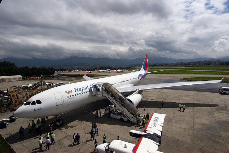 निगमको दोस्रो वाइड बडी विमान 'मकालु'को उडान यसैसाता, पहिलो उडान बैंककतर्फ
