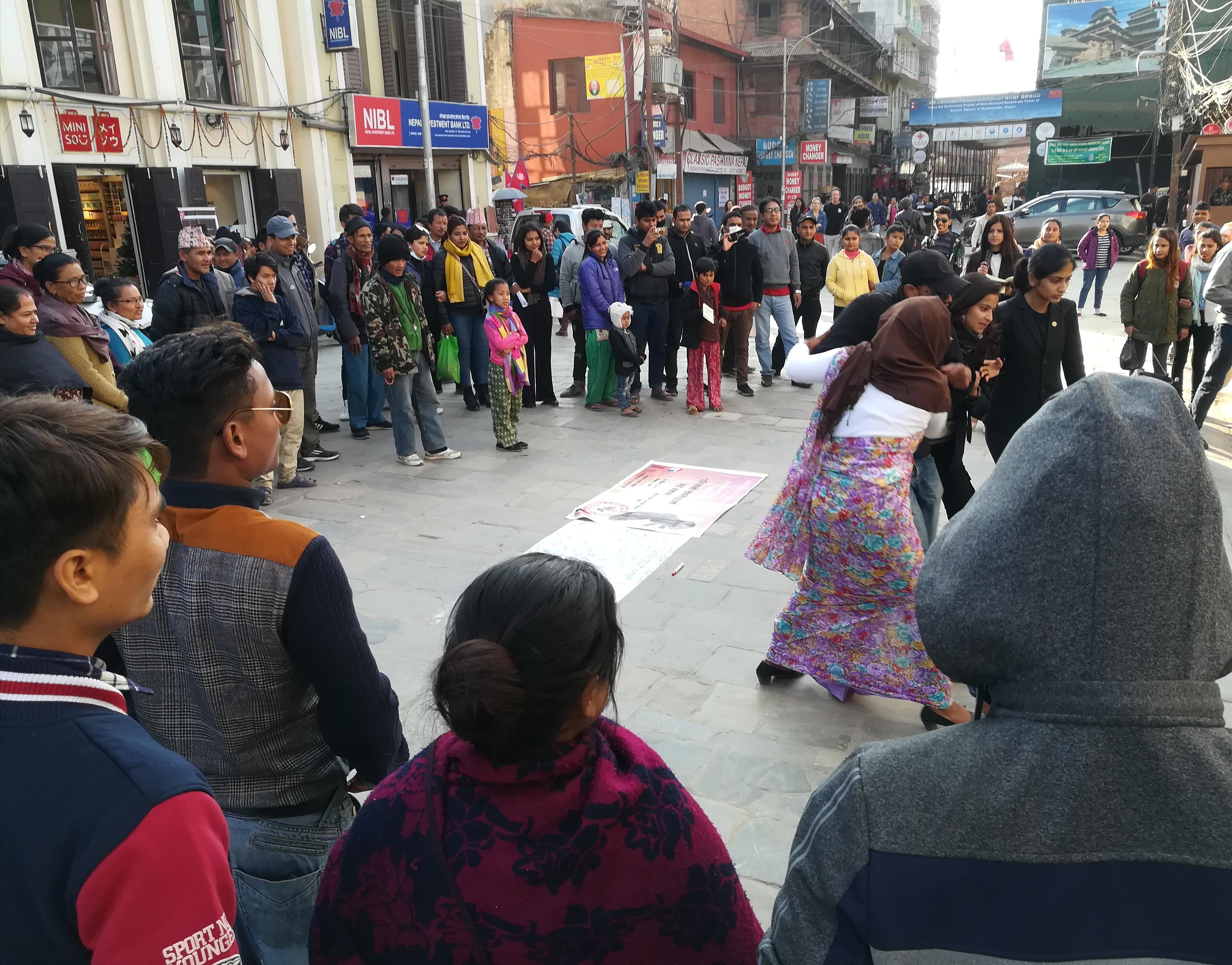 अन्तर्राष्ट्रिय मानवअधिकार दिवसमा सडक नाटक प्रदर्शन