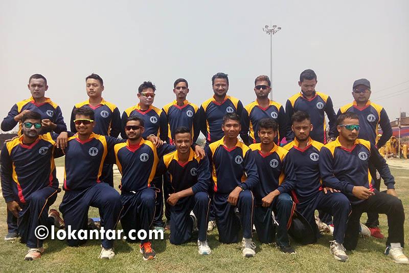 डीजीएम टी-ट्वान्टी क्रिकेट प्रतियोगितामा प्रहरीको विजयी शुरुवात
