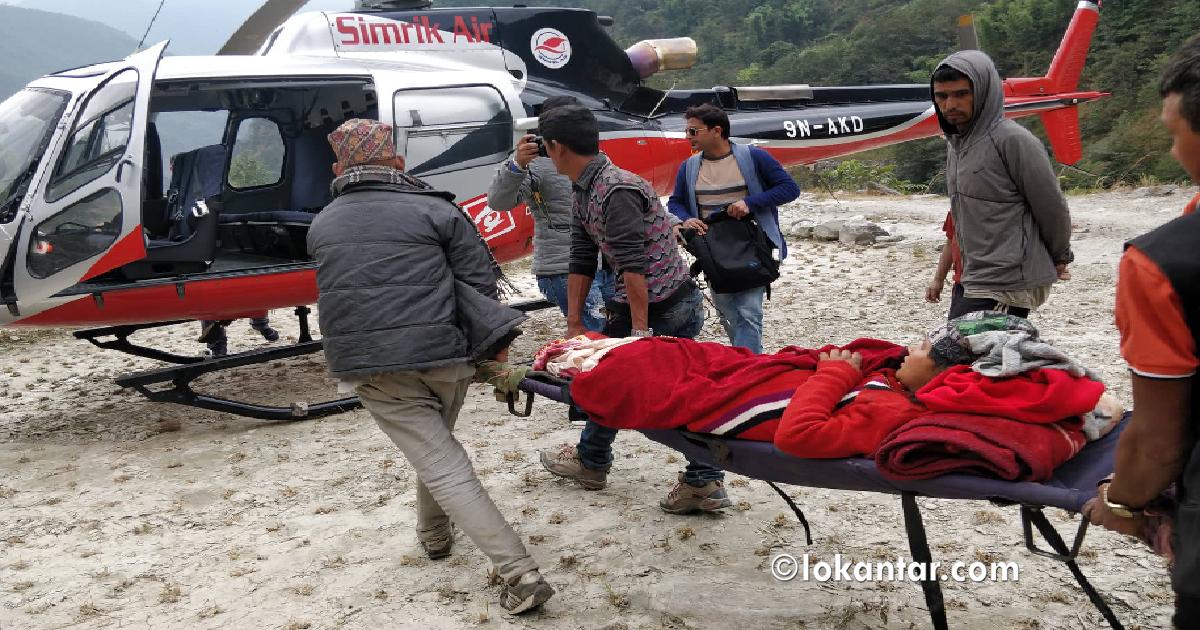हेलिकप्टरबाट उद्धारले बच्यो पार्वतीको ज्यान, तीन दिनको छटपटाहटपछि जन्मियो छोरा