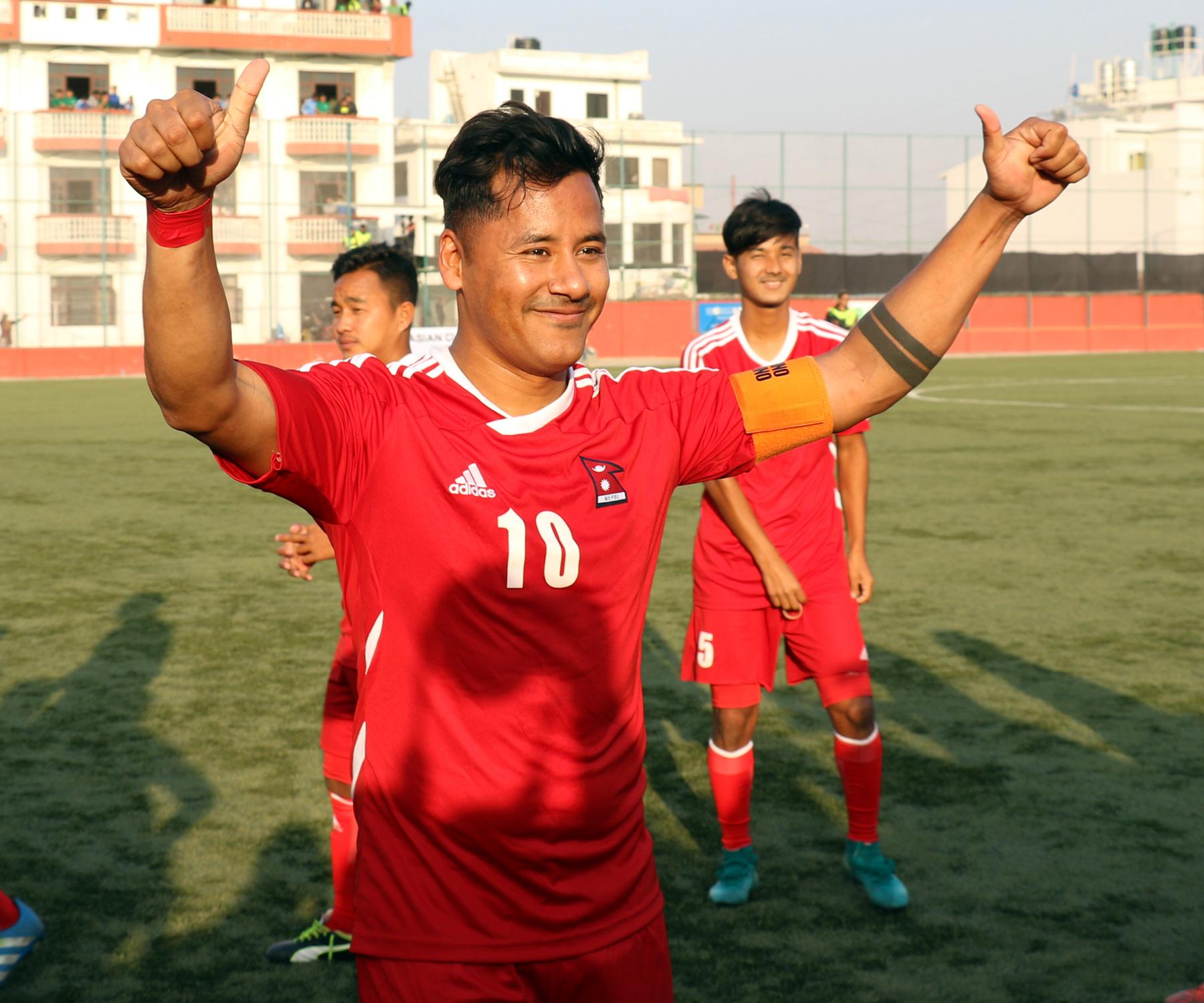 नेपाल र फिलिपिन्सको खेल बराबरी, गुरुङले गरे सन्यासको घोषणा