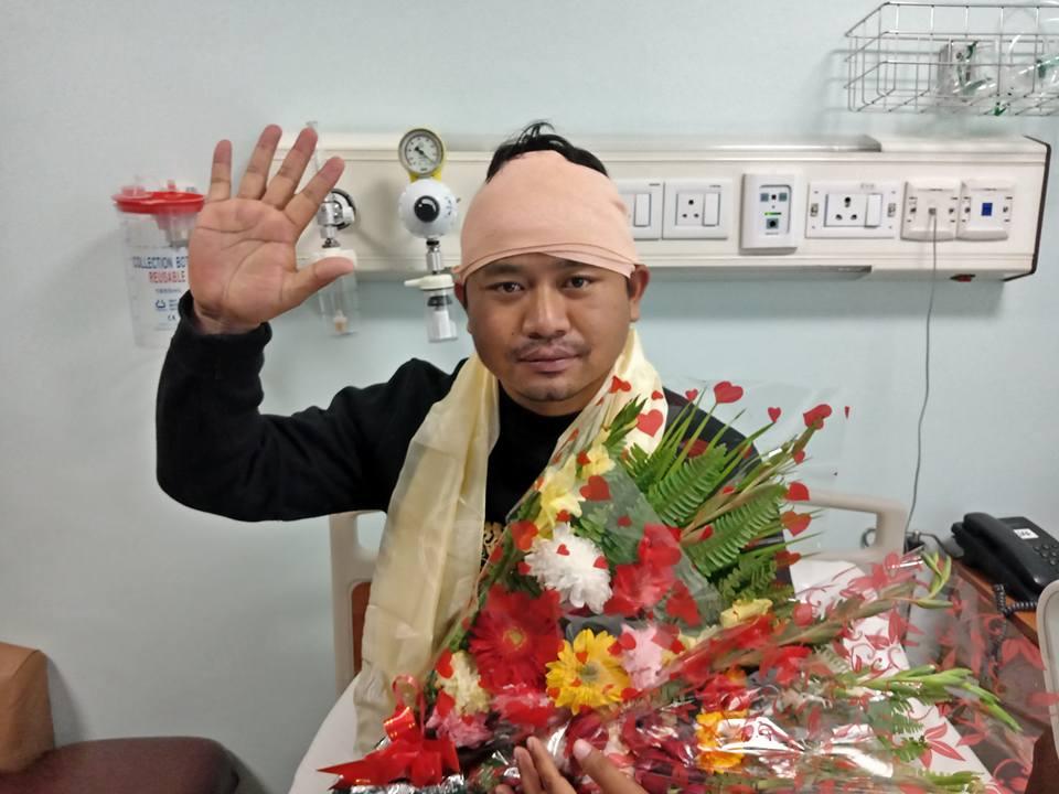 उपराष्ट्रपति पुत्र दिपेश पुन अस्पतालबाट डिस्चार्ज