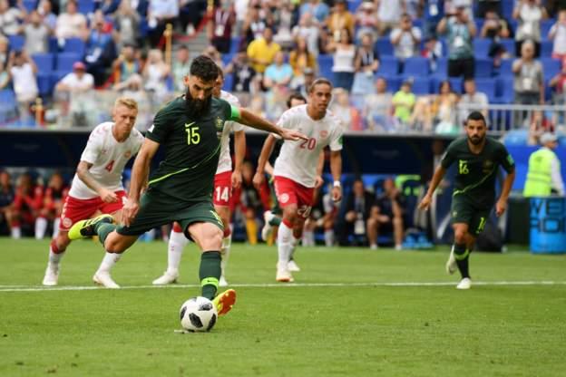 अस्ट्रेलियाले पेनाल्टीमा ग–यो गोल, खेल बराबरीमा