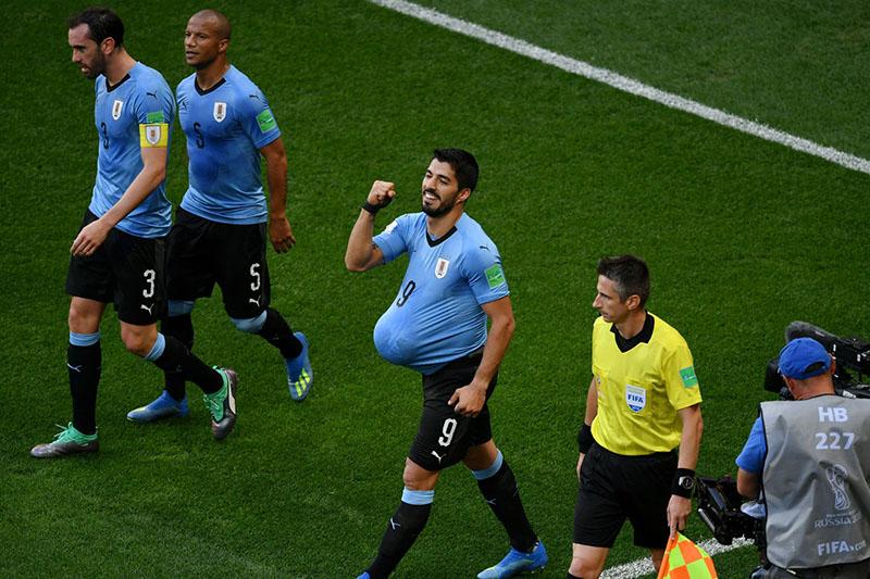 सुआरेजको एक मात्र गोलले उरुग्वे र रुस नकआउट चरणमा प्रवेश