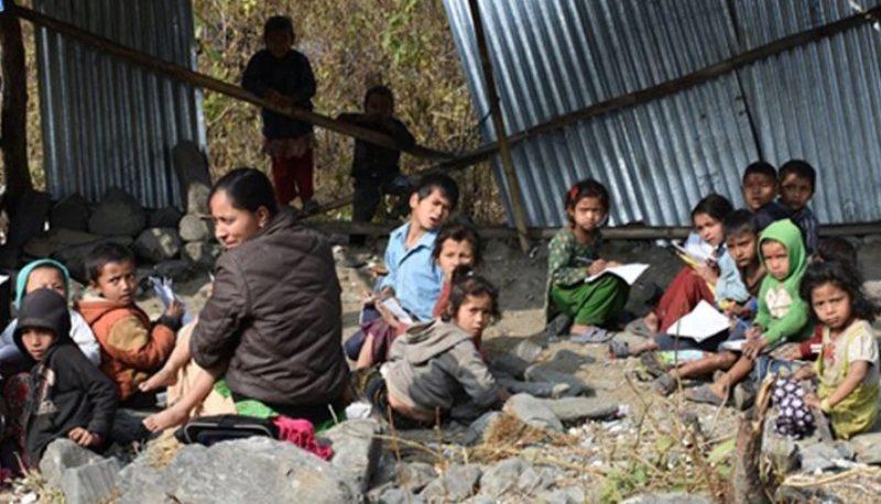 जग्गा अभावले विद्यालयको पुनर्निर्माण अन्योलमा, भारतीय दूतावासले पनि काम गरेन