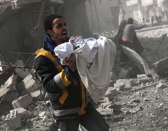 सिरियामा सेनाले विद्रोहीमाथि ग–यो भीषण आक्रमण, २५० को मृत्यु