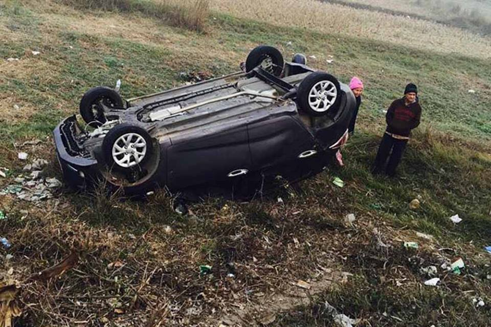 'तक्मे बुढा' चढेको कार दुर्घटना