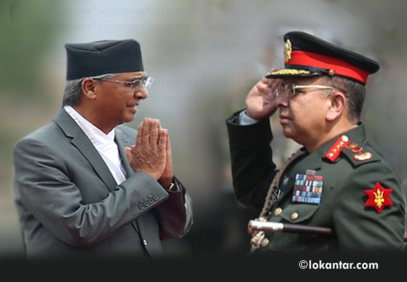 नेपाली सेनाद्वारा प्रधानमन्त्री विरुद्ध मुद्दा दायर !