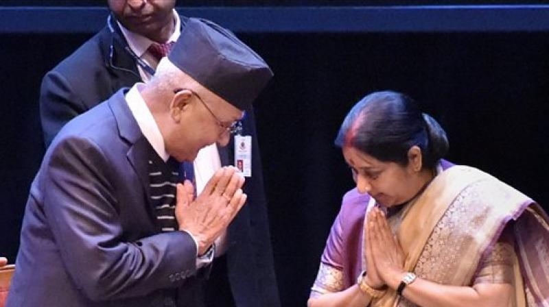 kp_oli_sushma_swaraj