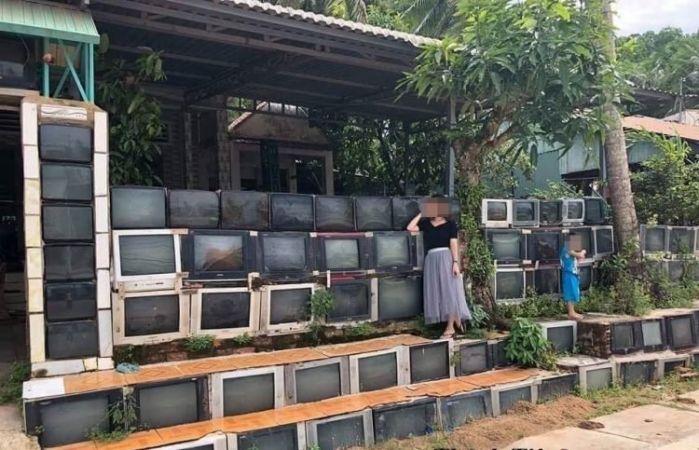 अचम्मको घर : टीभी हुन् घरका भित्ता