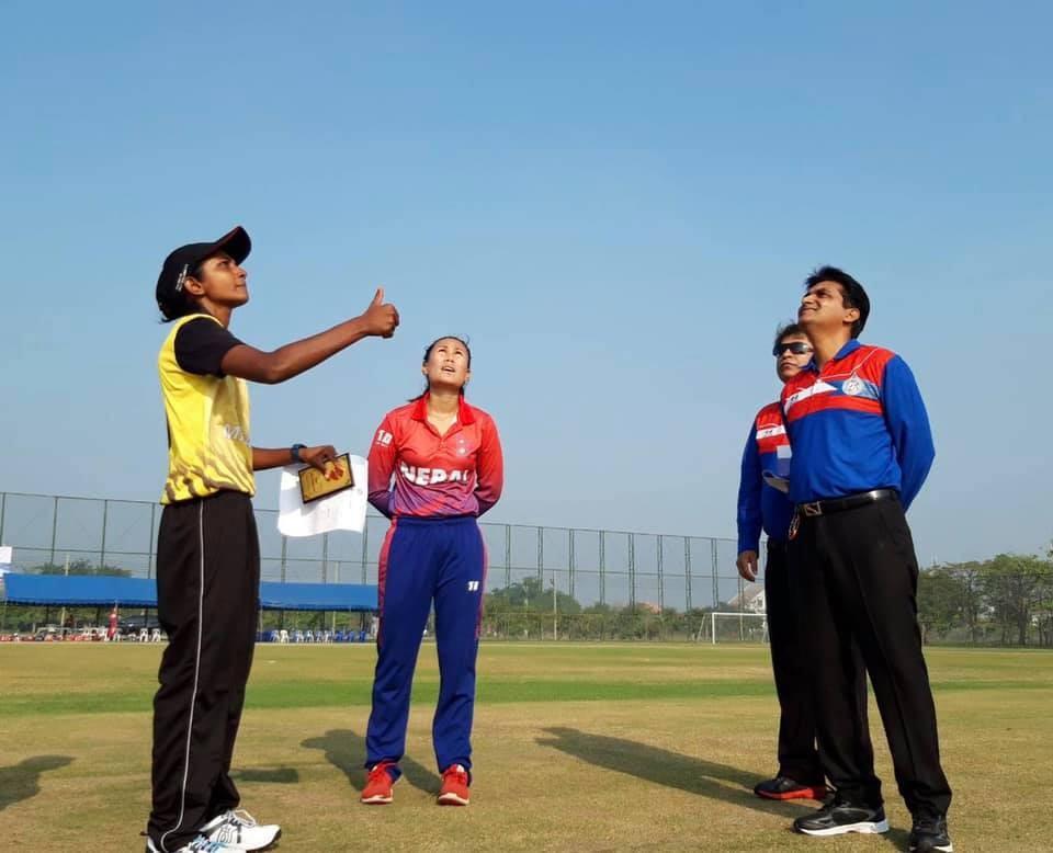 महिला टी-ट्वान्टी क्रिकेटमा नेपालको लगातार दोस्रो जित, मलेसिया ६ विकेटले पारजित