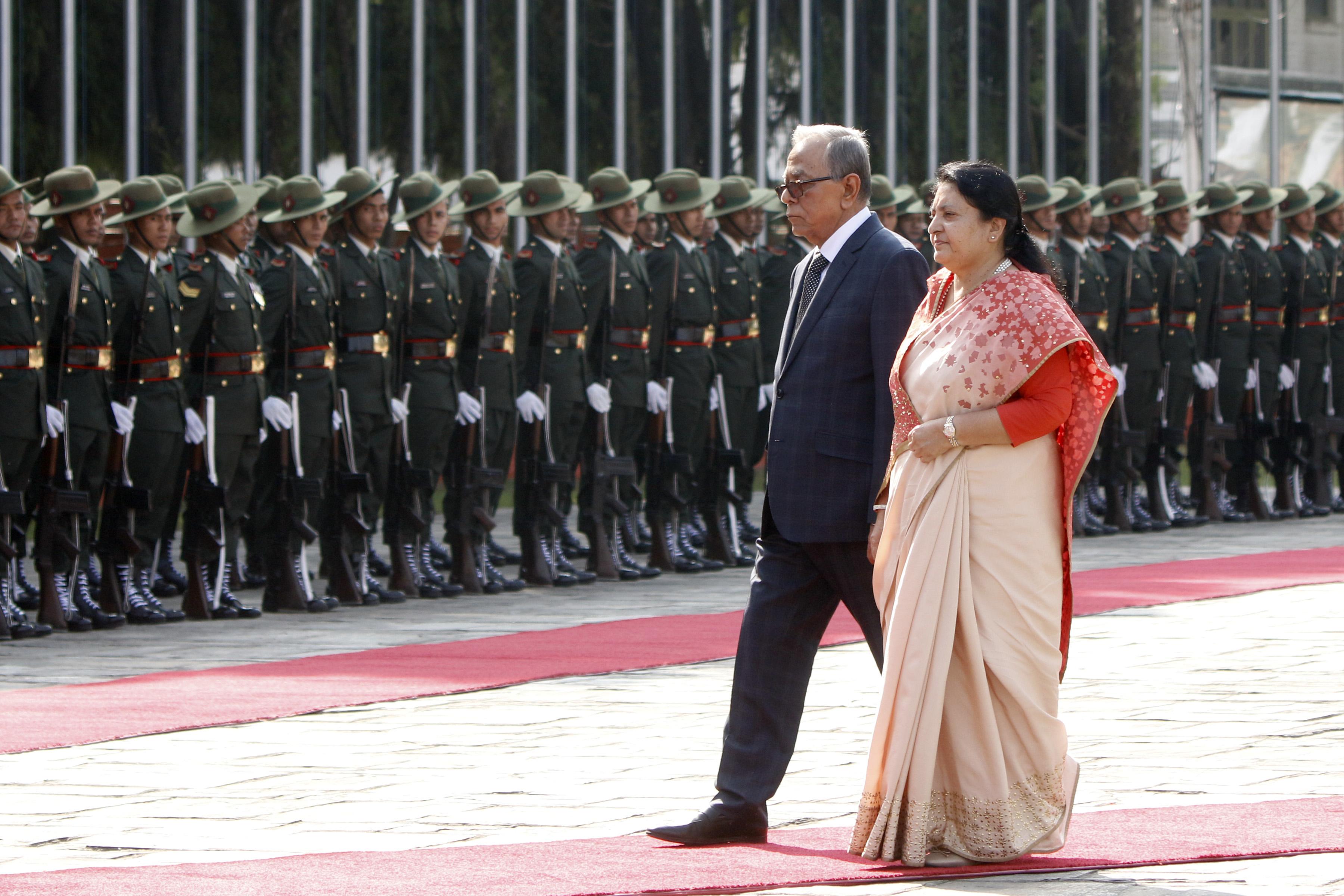 नेपाल भ्रमणमा रहेका बंगलादेशका राष्ट्रपति