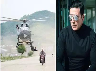 अक्षय कुमारको खतरनाक स्टन्ट (भिडियो)