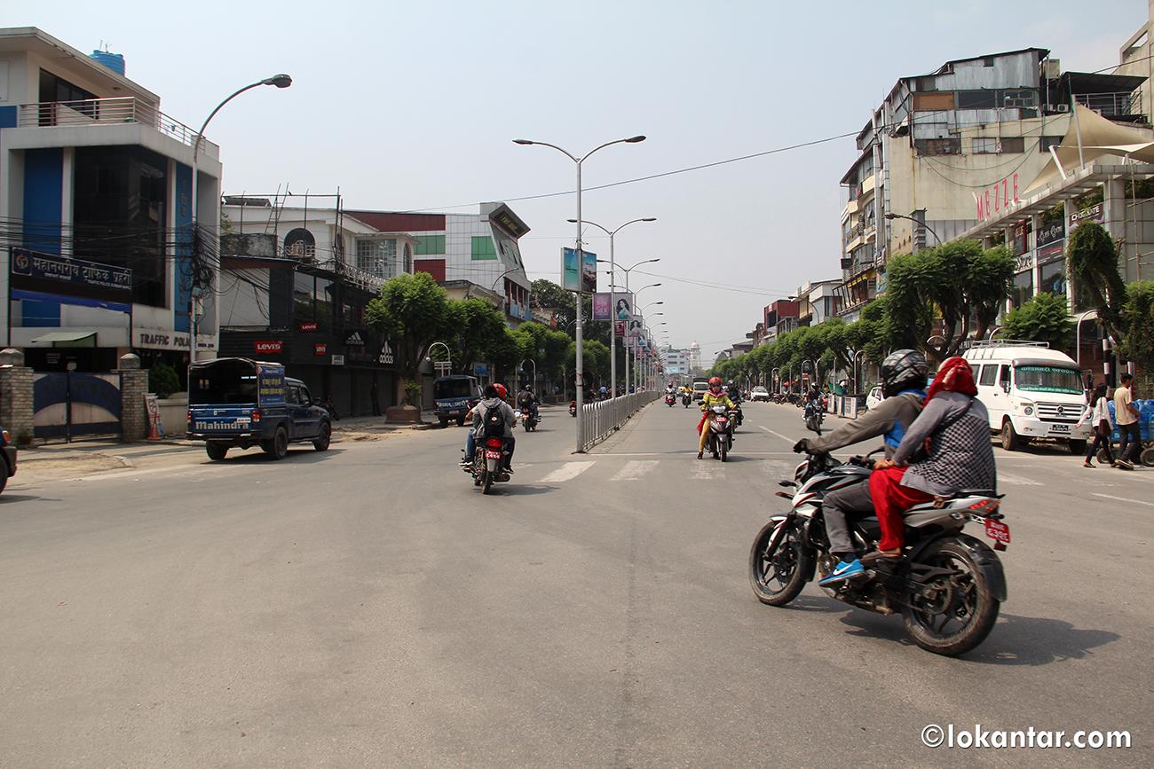 राजधानीमा 'विप्लव' समूहको नेपाल बन्दको प्रभाव [फोटोफिचर]