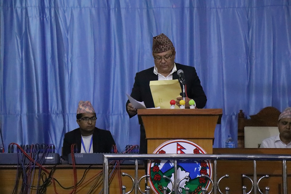 सुदूरपश्चिम प्रदेशको विनियोजन विधेयक प्रस्तुत