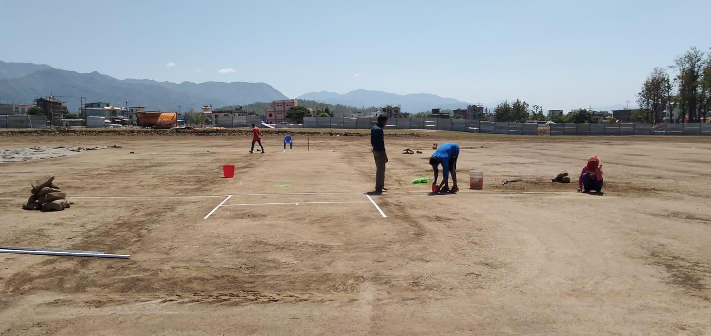 केपीएलको तयारी तीव्र, क्रिकेट मैदान व्यवस्थित बनाइँदै