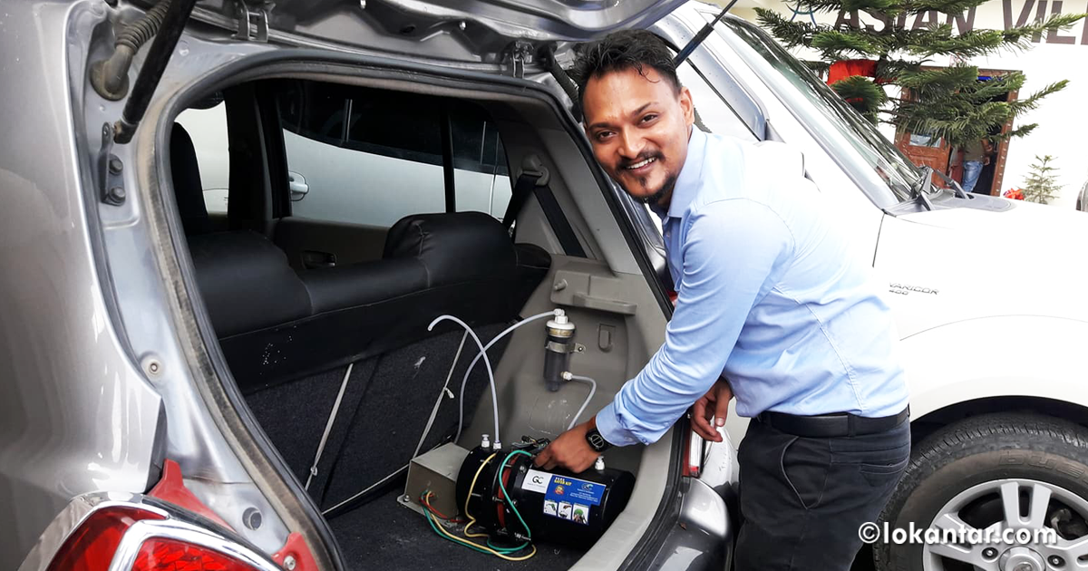 युवा इन्जिनियरको आविष्कार : गाडीमा इन्धन खपत कम गर्ने 'सक्स किट'