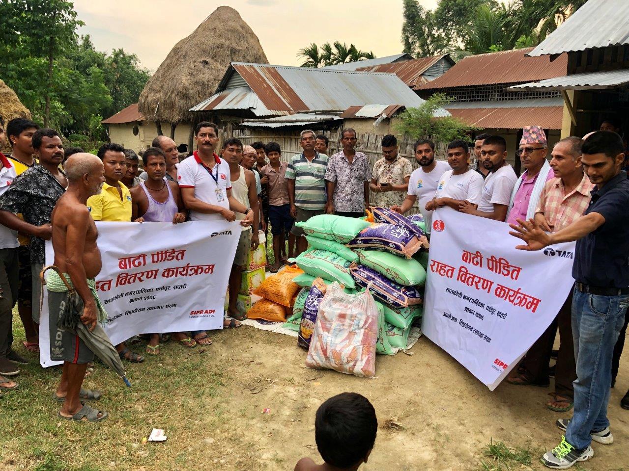 सिप्रदीयन सहायता संस्थाद्वारा बाढीपीडितलाई राहत वितरण