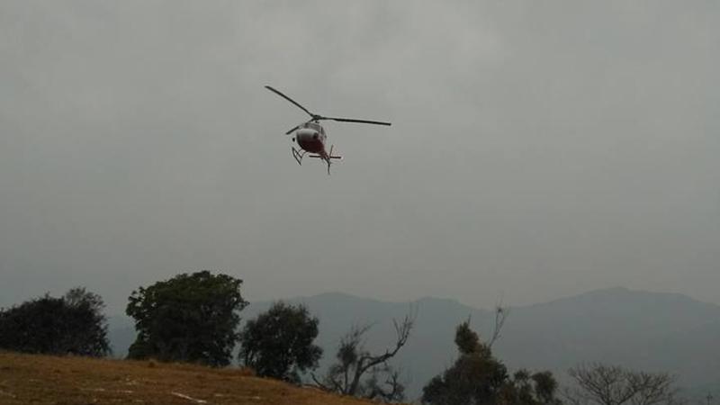 सुत्केरी महिलाको उद्दार गर्न हेलिकप्टर प्रयोग