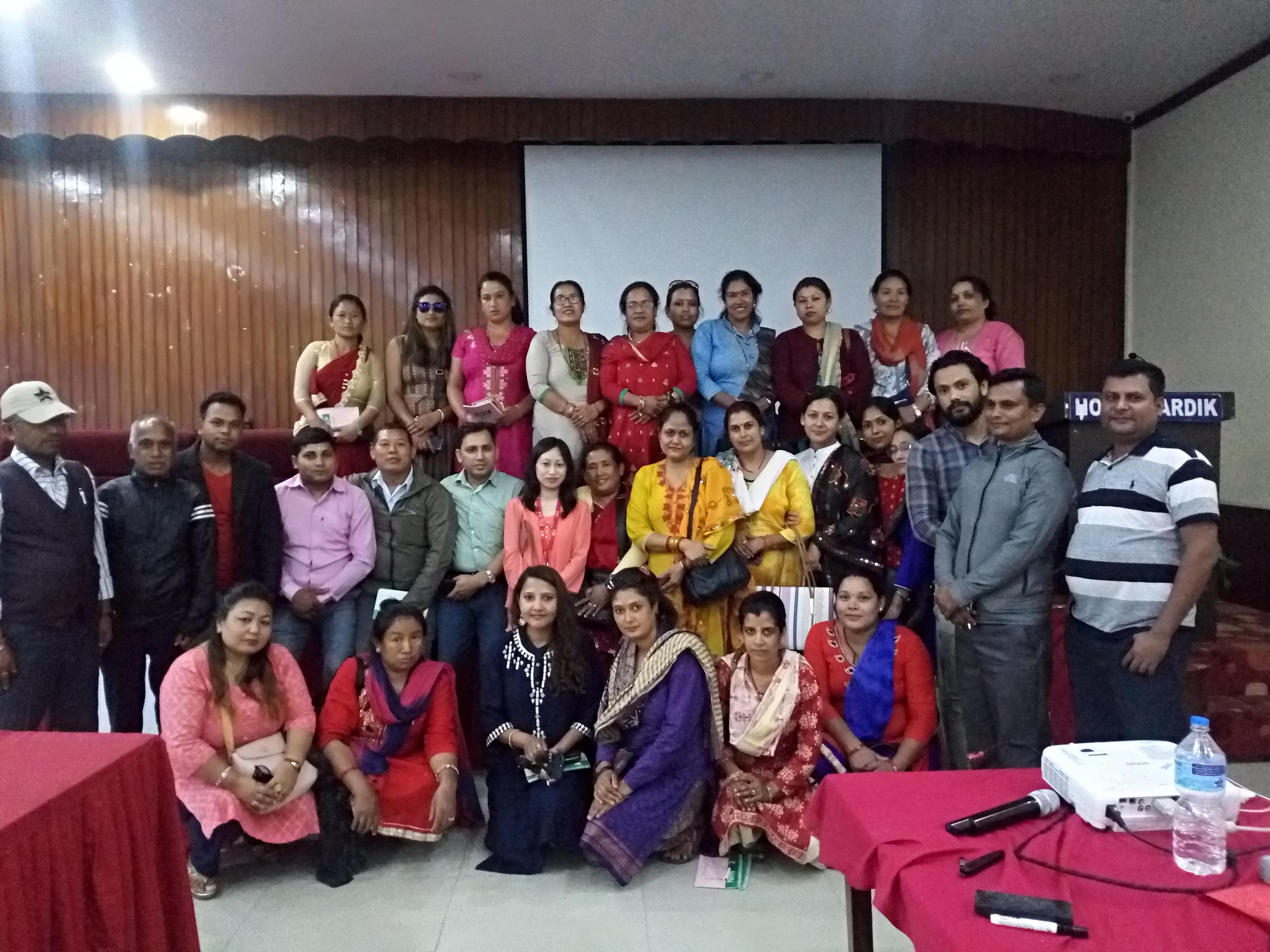 मुक्तिनाथ विकास बैंकद्वारा व्यावसायिक साक्षरता तालिम सम्पन्न