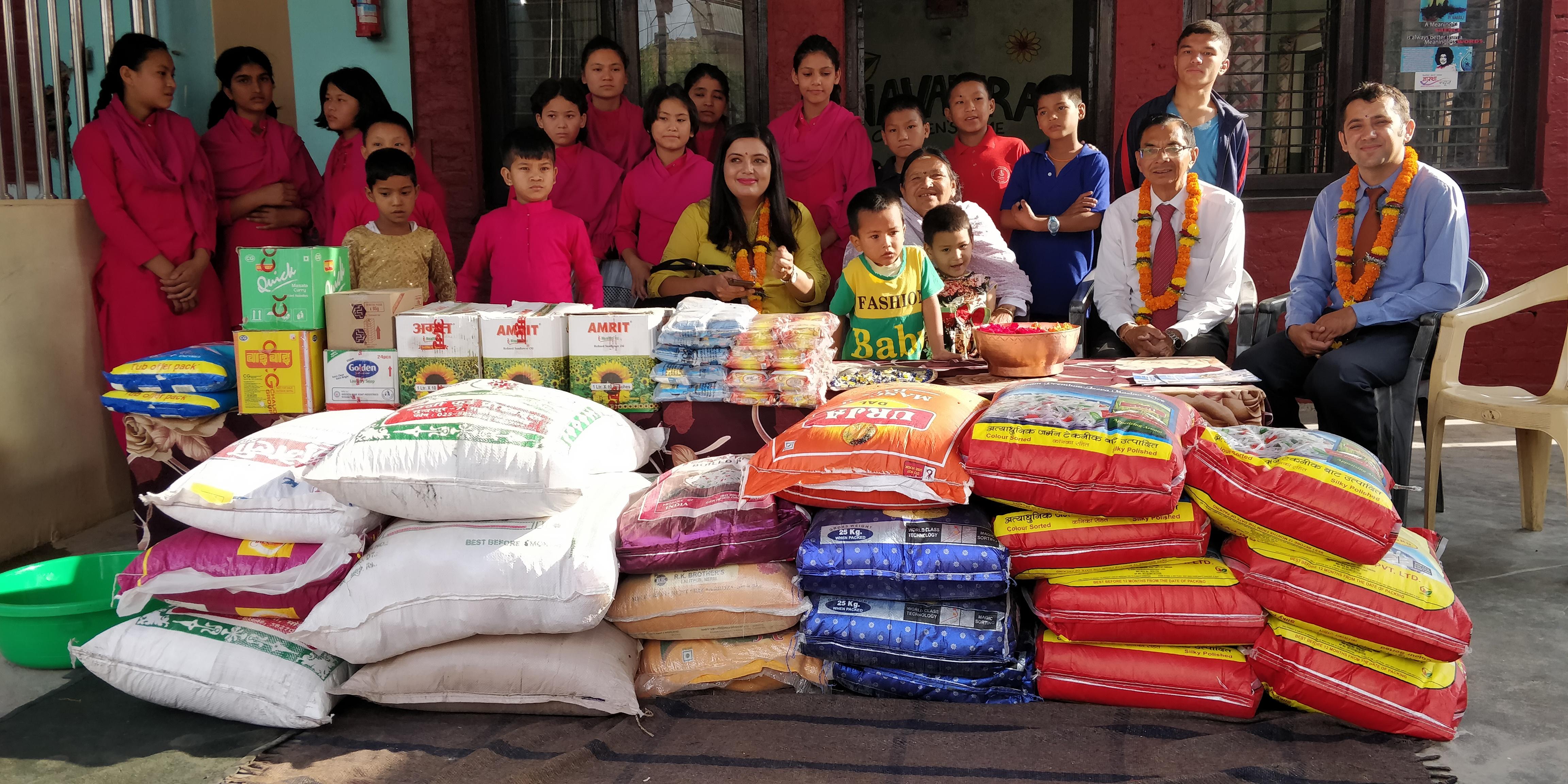 हिमालयन बैंकले गर्यो बालबालिकालाई सहयोग