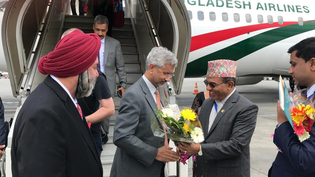 भारतीय विदेशमन्त्री जयशंकर काठमाडौंमा, परराष्ट्र सचिवले गरे स्वागत !
