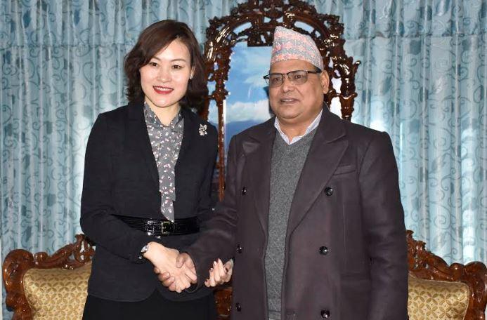 चिनियाँ राजदूतसामु सभामुख महराको विश्वास : 'केरुङ-काठमाडौं रेलमार्ग छिट्टै बन्छ'