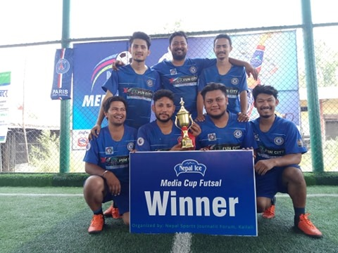 मिडिया कप फुटसल प्रतियोगिताको उपाधि एसटीएसलाई