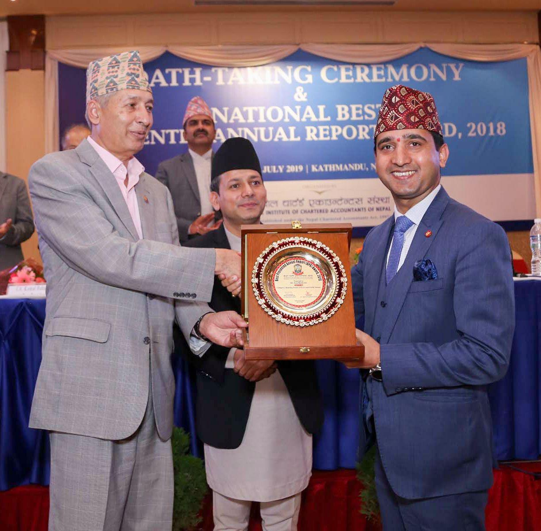 एनआईसी एशिया बैंक उत्कृष्ट वित्तीय प्रतिवेदन अवार्डबाट सम्मानित