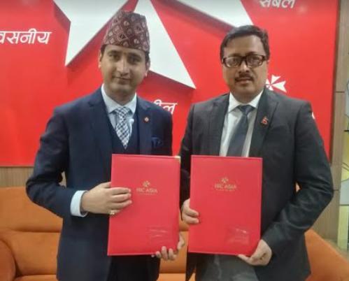 एनआईसी एशिया बैंक र नेपाल क्यान्सर अस्पतालबीच सम्झौता
