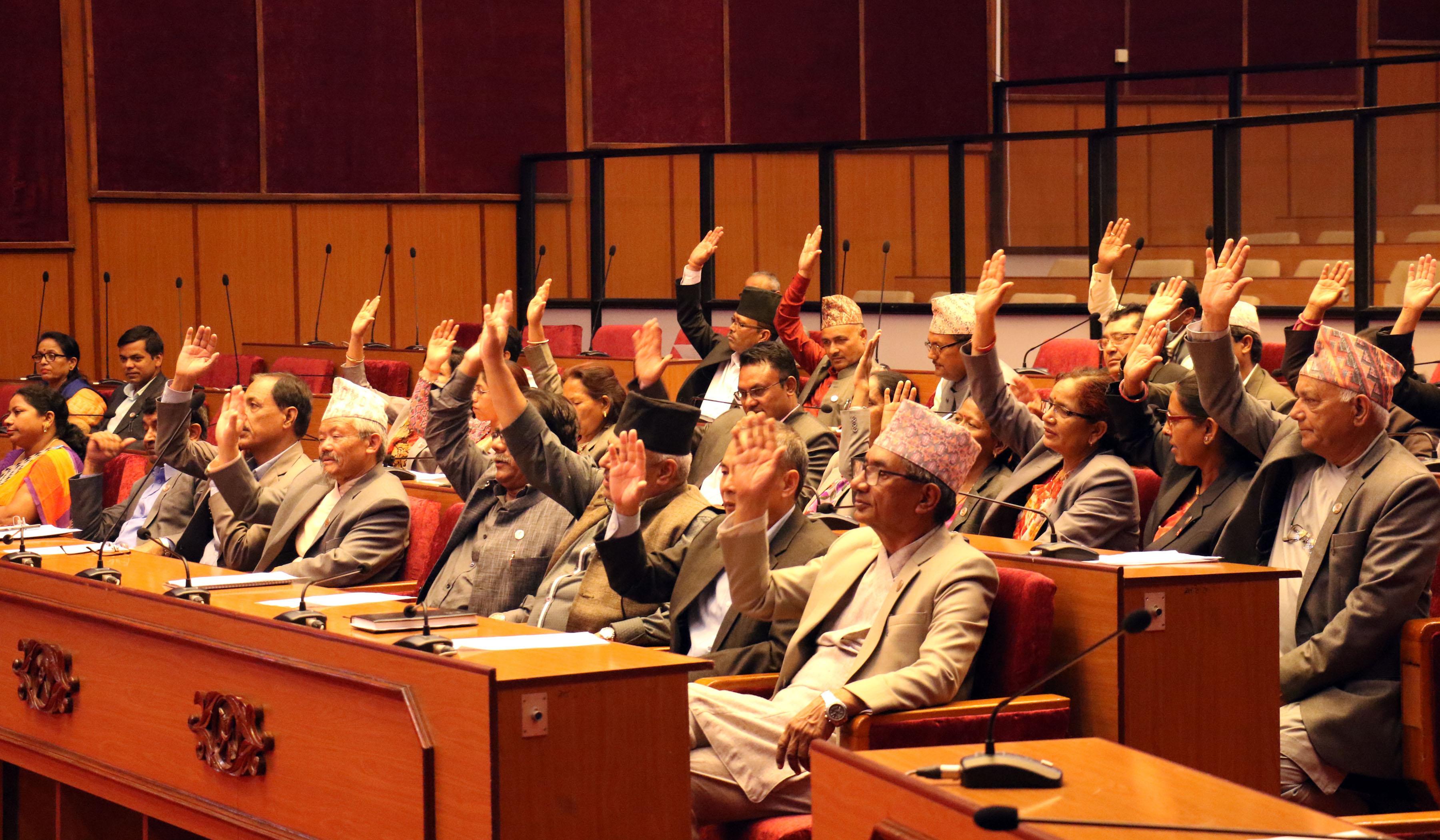 सदनमा पहिलो पटक नेकपा र कांग्रेसको संयुक्त प्रस्तावमाथि छलफल