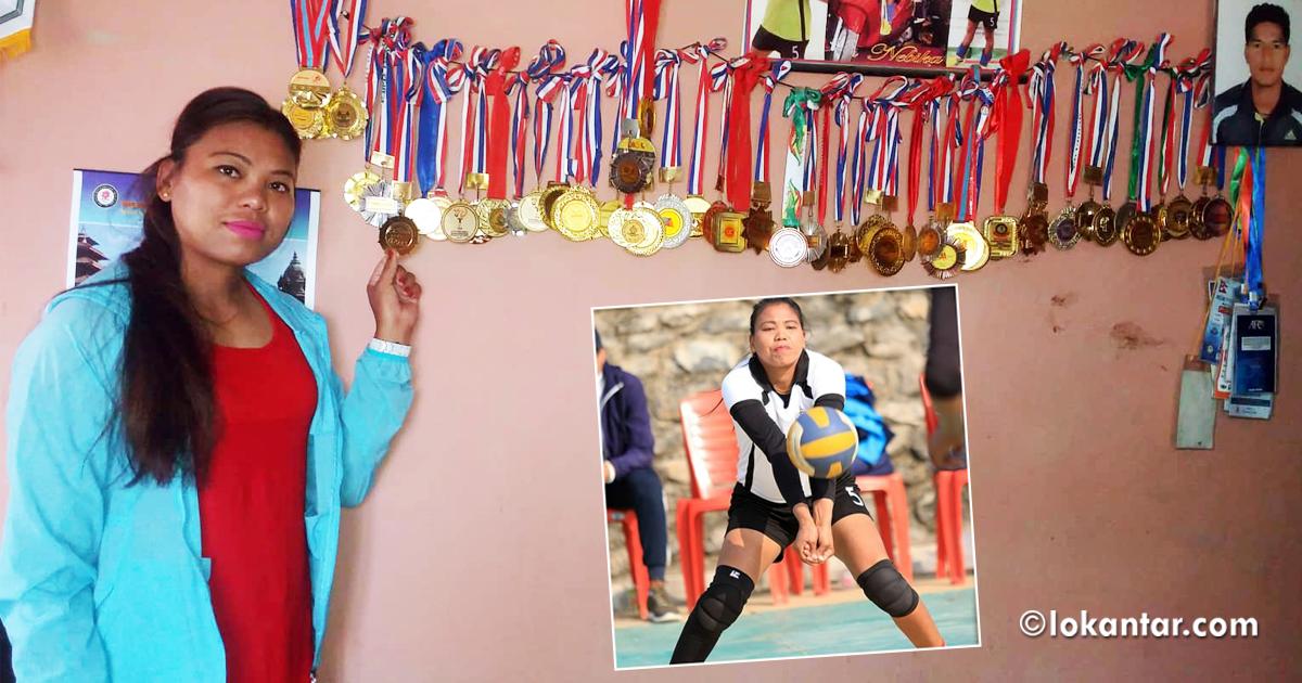 भलिबलकी राष्ट्रिय च्याम्पियन नेविका : माइतीदेखि ससुरालीसम्म खेलमय जीवन