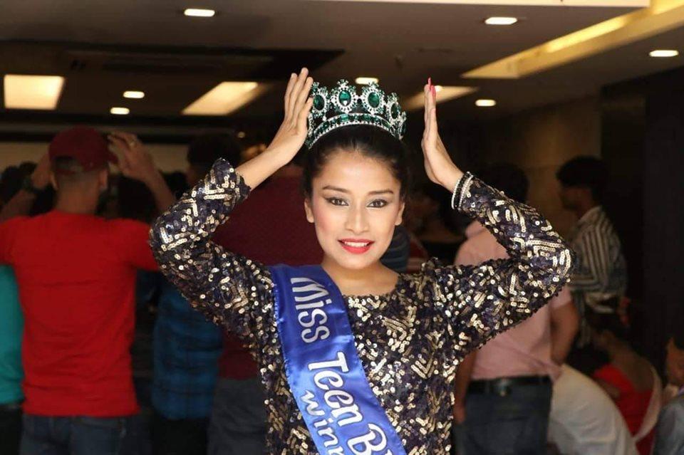 नेपालकी चेली निकिताले जितिन् 'मिस टीन भारत'को उपाधि
