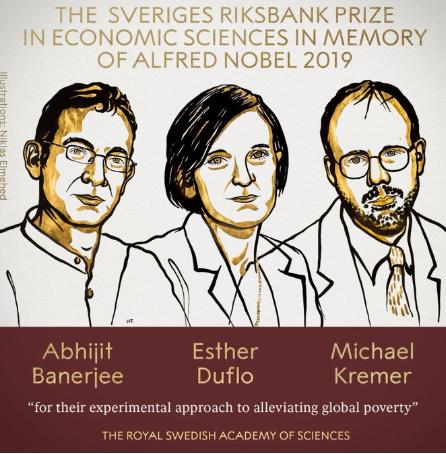 विश्वव्यापी गरीबी घटाउने दृष्टिकोण प्रस्तुत गर्ने ३ अर्थशास्त्रीले पाए नोबेल पुरस्कार