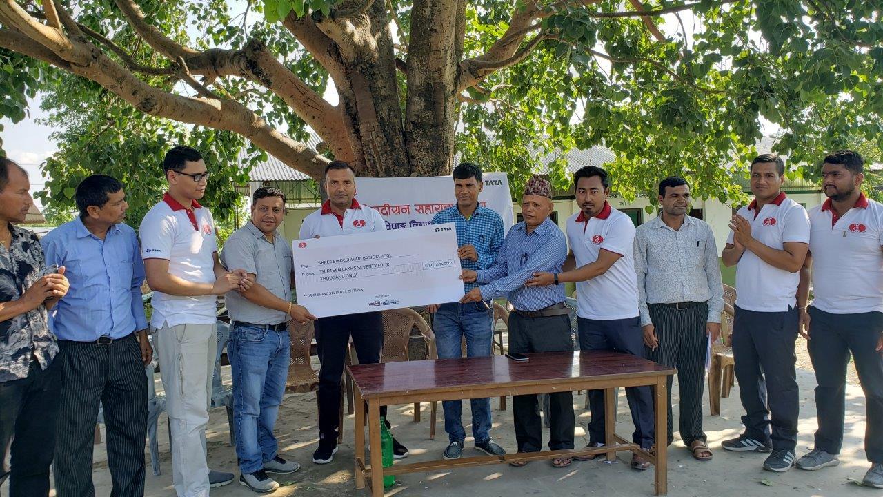 सिप्रदीयन सहायता संस्थाद्वारा चेपाङ विद्यार्थीहरूलाई छात्रवृत्ति प्रदान