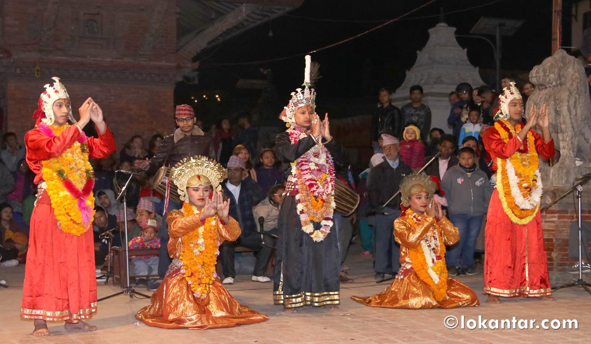 सिद्धिनरसिंह मल्लले ४ सय वर्ष पहिलेदेखि शुरू गरेको ऐतिहासिक कार्तिक नाच ललितपुरमा (फोटोफिचर)