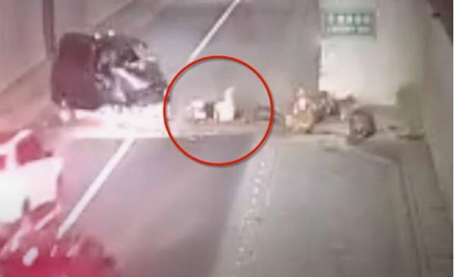 कार दुर्घटनामा उछिट्टिइन् गर्भवती महिला (भिडियो)