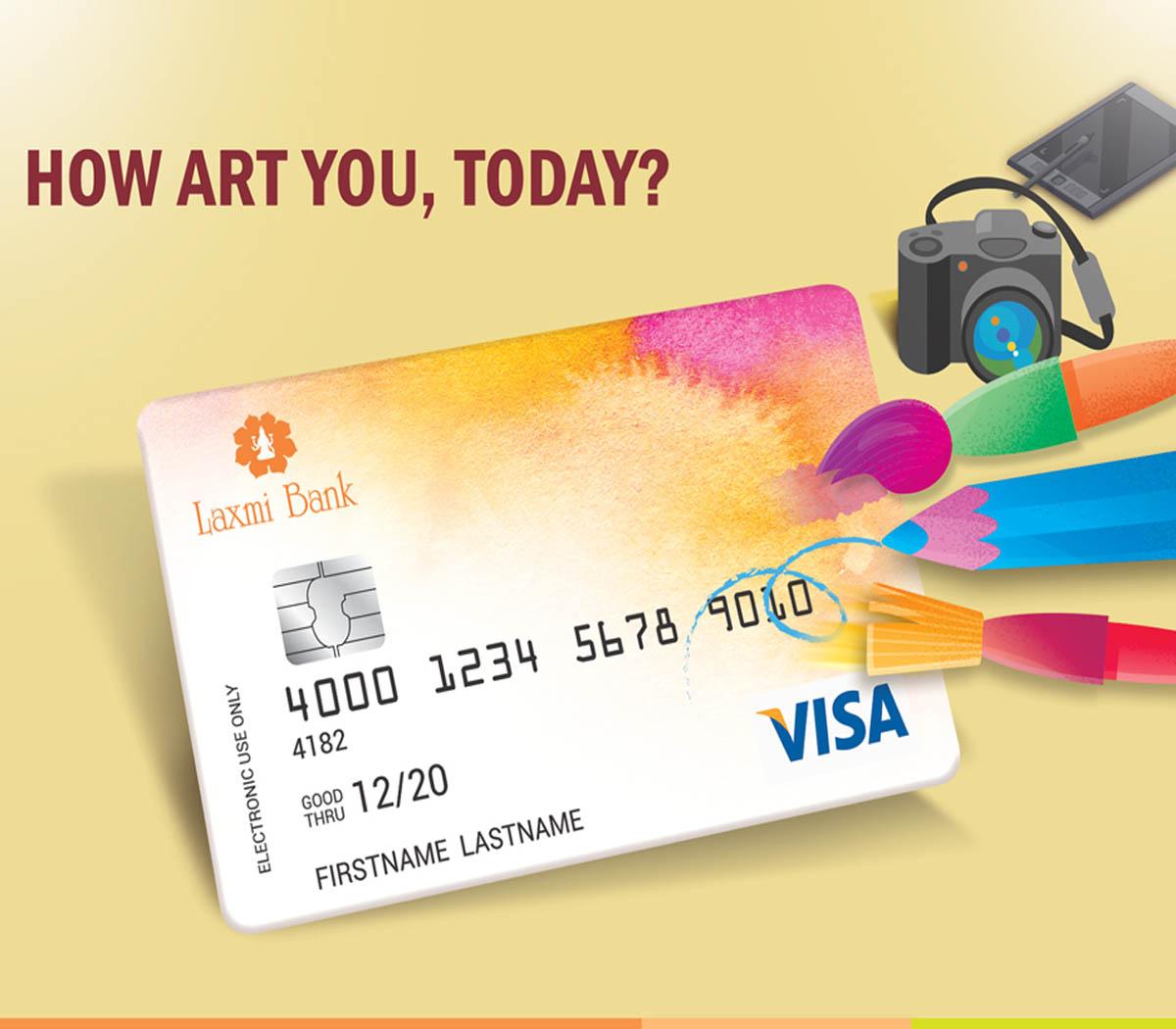 क्राउड सोर्सिङमार्फत लक्ष्मी बैंकको भिसा कार्ड डिजाइनको खोजी