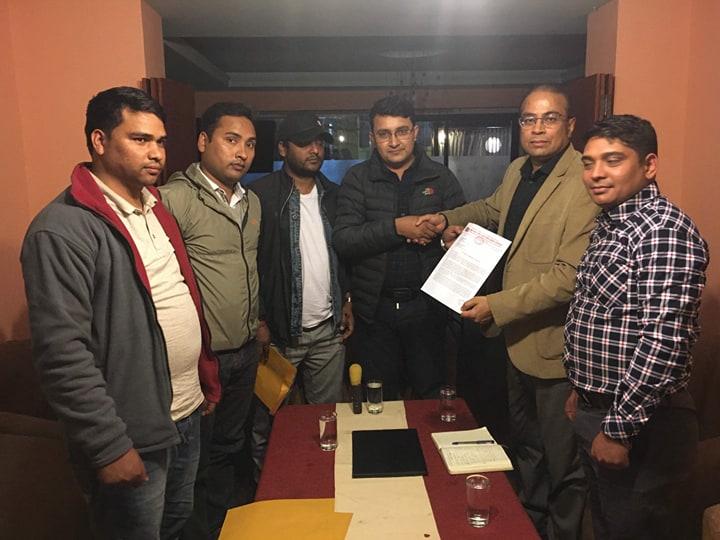 विप्लवनिकट अखिल क्रान्तिकारीले भारतीय दूतावास र राष्ट्रसंघको कार्यालयमा बुझायो ज्ञापनपत्र