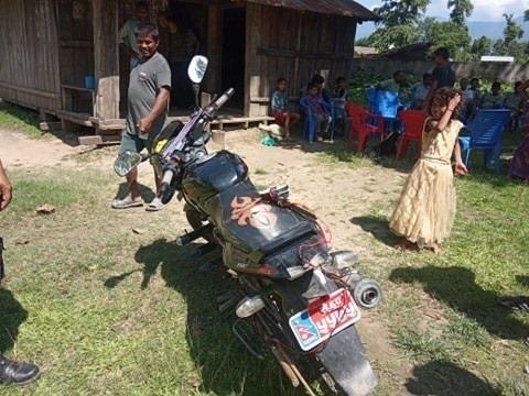 चित्तलसहित मोटरसाइकल बरामद