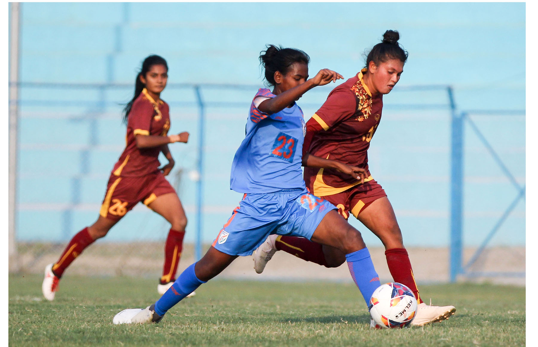 साफ महिला फुटबलमा भारत विजयी, श्रीलङ्का ५–० ले पराजित