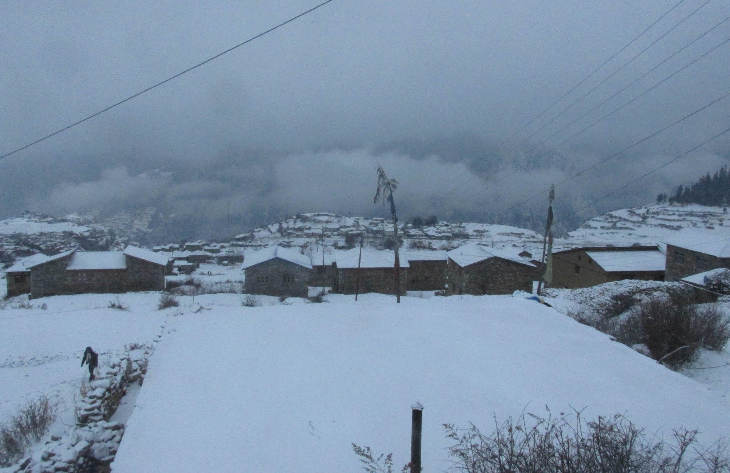 उच्च हिमाली जिल्लामा फेरि हिमपात