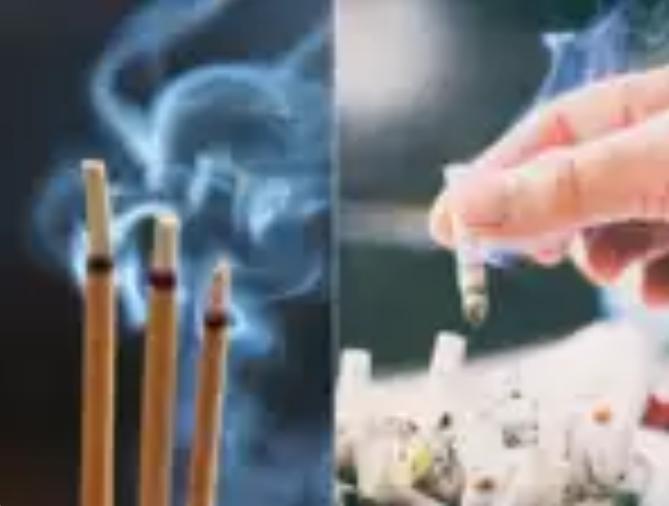 अगरबत्तीको धूवाँ चुरोटको जत्तिकै हानिकारक हुने अध्ययनको निष्कर्ष