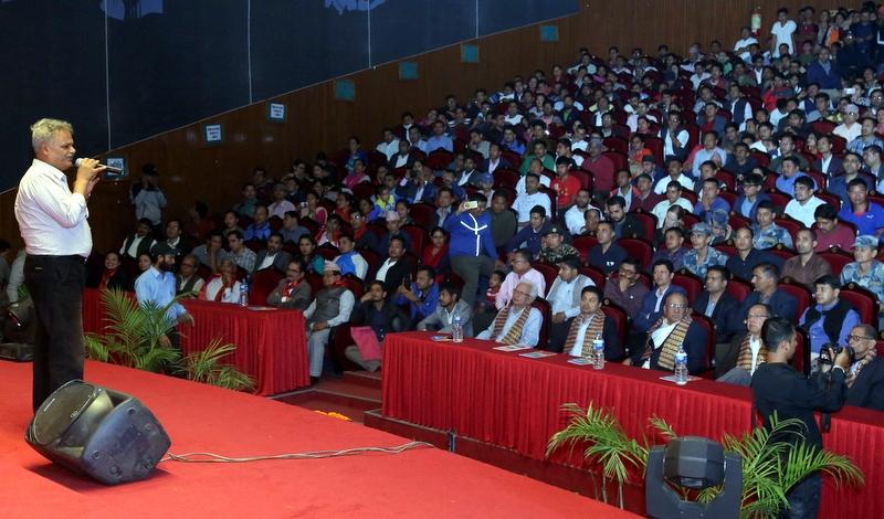 विशेष रक्तिम सांस्कृतिक कार्यक्रममा जीवन शर्माको प्रस्तुती